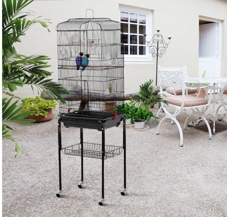 Grandes gaiolas de pássaro para papagaio paraqueet polvo metal pássaro casa de criação aumentada gaiola ninho de pássaro gaiola pombo suprimentos de pássaro hwc