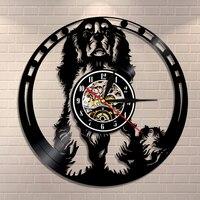 Cavalier King Charles Spaniel Dog Wall Clock Cavalier Wall Art Dog Breed Pug Dog Vinyl Record Clock Dog Lover Housewarming Gift