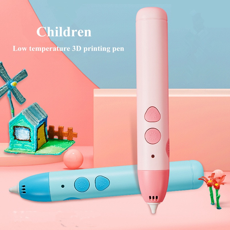Low temperature 3D Pen DIY 3D Printer Pen Drawing Pens 3d Printing Best for Kids safely Anti-Scald Toys Christmas Birthday Gift