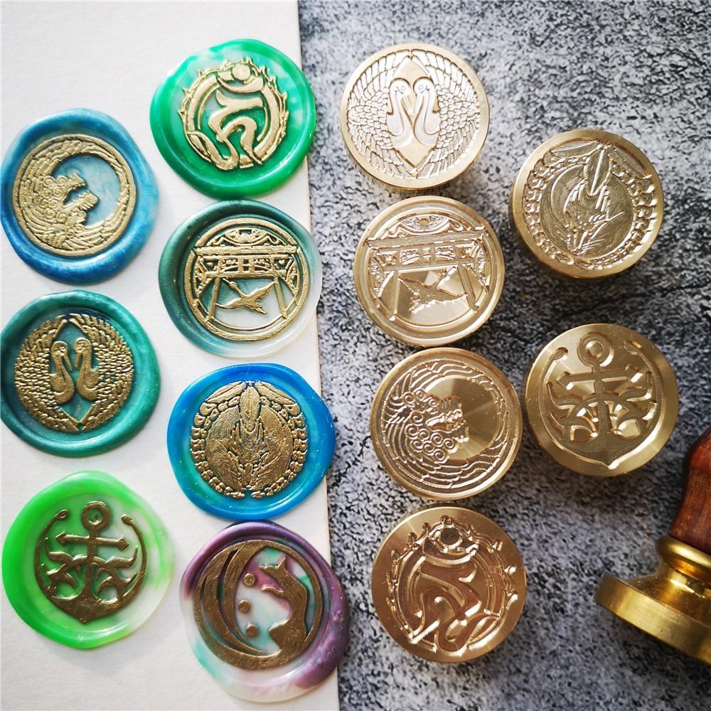 Japan toukenranbu Stamp Head 54 logo DIY Ancient Seal Retro Stamp Wax Seal High Quality DIY Scrapbooking wax stamp copper head