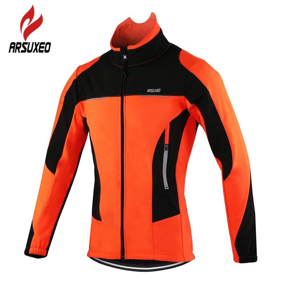 ARSUXEO флис Термальность велосипедная куртка осень-зима Теплые до велосипед Костюмы ветрозащитный ветровка пальто MTB велосипед майки ветровк...