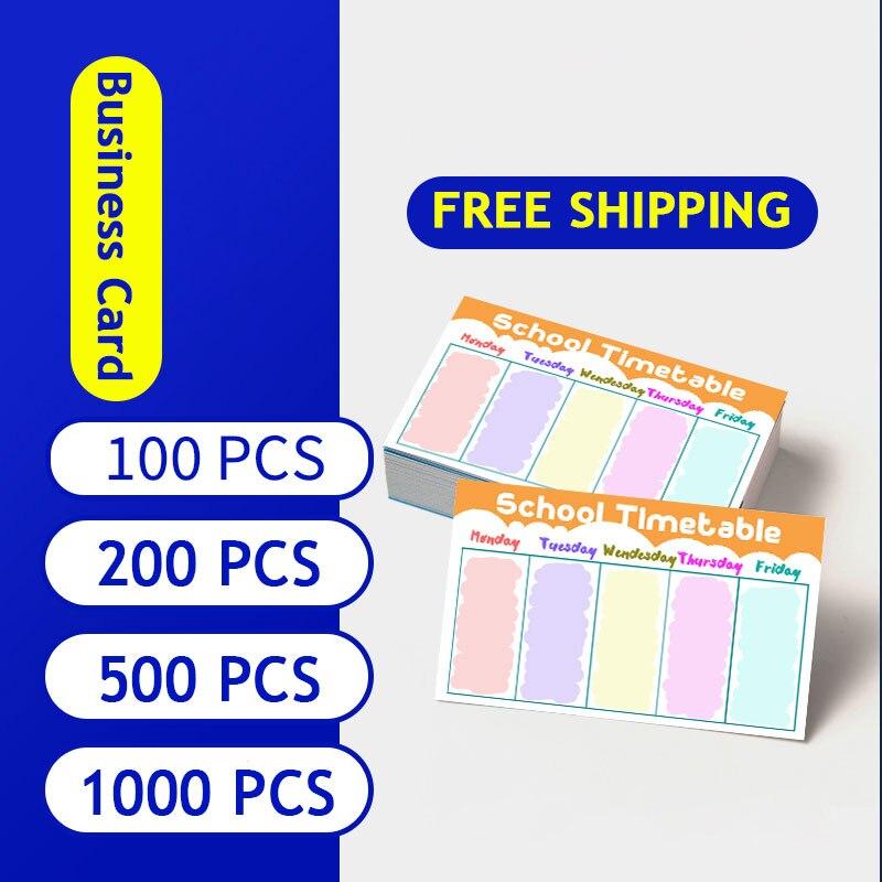 Визитная карточка, печать на заказ, 300 г/кв. М, бумажные визитные карточки с чистым краем 100/ 200/500/1000/партия, цветные бирки для визиток, печать л...