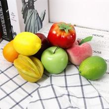 Fruits artificiels en plastique Simulation pomme citron pêche Orange bricolage Fruits pour la maison fête décor accessoires accessoires de photographie