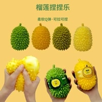12 5cm cute durian decompression toys screaming chicken vent toy anger let off children fruit sensory novelty gag toys
