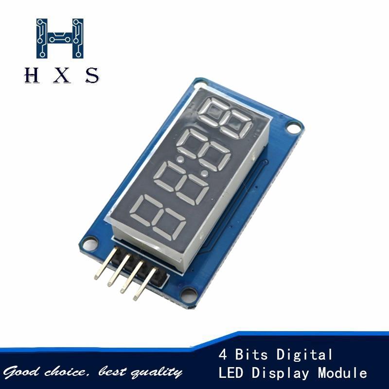 4 bits módulo de exibição led digital tm1637 para arduino 7 segmentos 0.36 polegada vermelho ânodo tubo relógio quatro série controladores placa pa