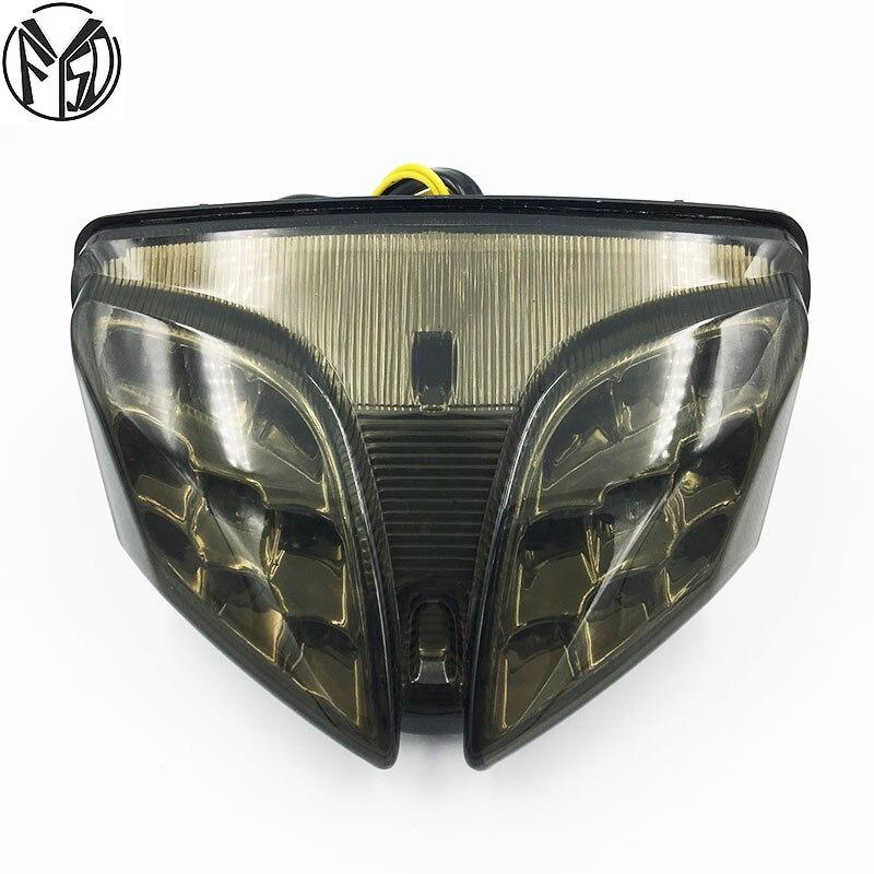 لسوزوكي GSXR GSX-R 600 750 2008-2012 K8 K9 المتكاملة LED الخلفية الذيل ضوء بدوره إشارة مصباح دراجة بخارية اكسسوارات GSX-R 1000