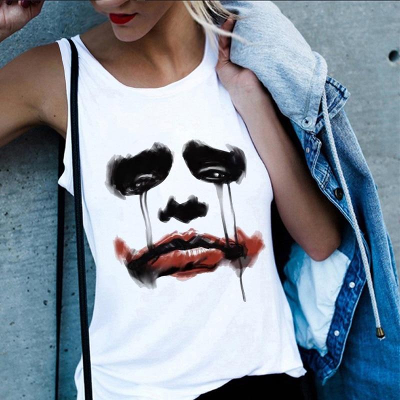Summer Women 2020 Vest Tank Tops Fun Clown Print Harajuku Casual Hip Hop Streetwear Sleeveless Female T-shirt Large Size S-2XL