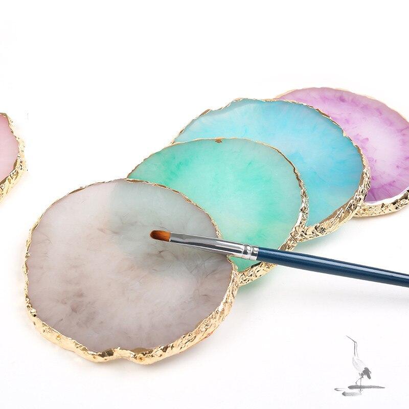 Almacenamiento de resina bandeja de paleta pintada joyería Placa de exhibición collar pendientes de anillo bandeja de exhibición placa creativa organizador de decoración