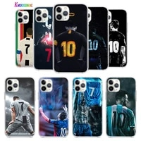 football lucky number m 10 c 7 for apple iphone 12 mini 11 xs pro max xr x 8 7 6s 6 plus 5 5s se 2020 tpu silicone phone case