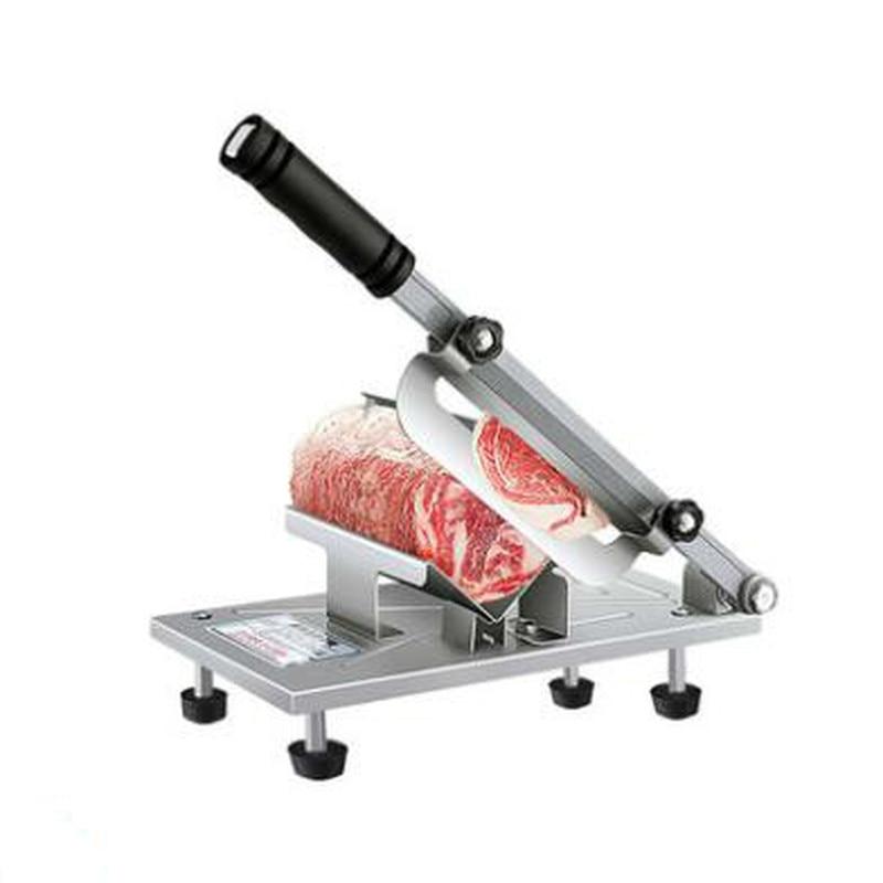 Cortador de carne fatiador fatiado máquina de corte de carne manual slicer entrega de carne automática desktop fácil-corte de carne congelada e carneiro