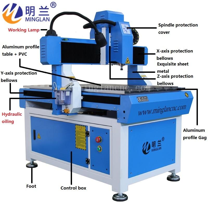 Заводская цена 6090 фрезерный станок с ЧПУ деревообрабатывающий станок для резки гравировки небольших материалов