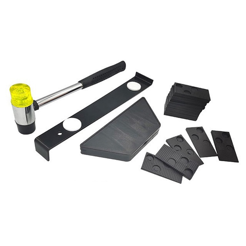 Laminate Wood Flooring Installation Kit with 20PCS Spacers Tapping Block Pull Bar and Mallet Hand Tool Sets