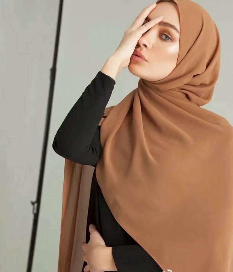 Дамски обикновен балон шифонов шал, - Аксесоари за облекла - Снимка 4