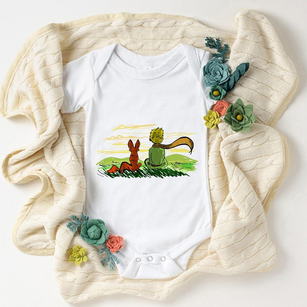Боди для новорожденных, одежда с принтом Маленького принца, одежда для маленьких девочек, французская мода, боди для девочек, детское боди