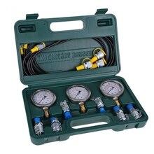 Гидравлическое давление Guage экскаватор испытательный комплект гидравлического давления с тестовым шлангом муфты и измерительные инструменты