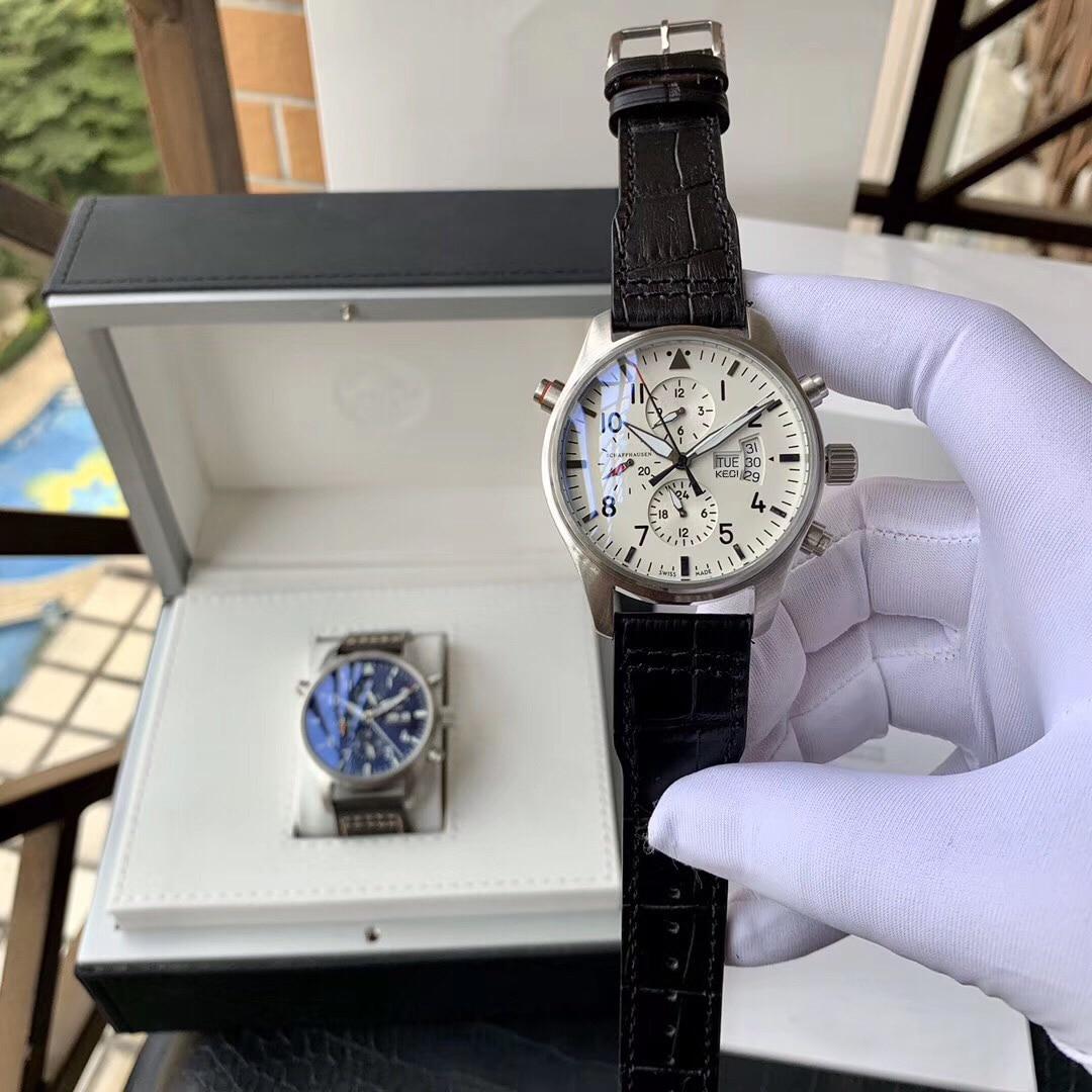 Swiss Luxury Brand 1:1 Clock Diameter 44mm Men's Casual Fashion Big Dial Pilot Watch Automatic Mecha