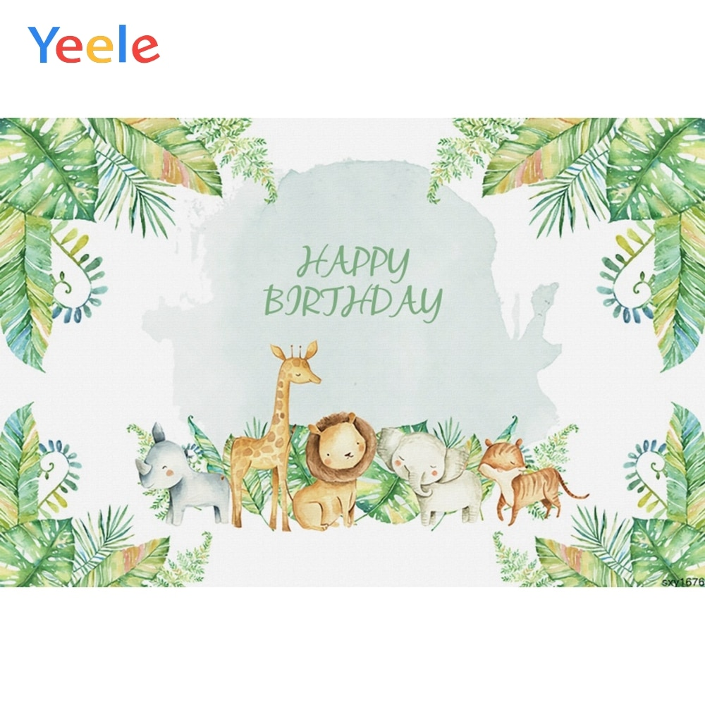 yeele dreamy castle style backdrops for photography pink flowers fairy tale backgrounds birthday party photo vinyl studio props Yeele Safari Party Jungle Tropical Leaves Grass Birthday Baby Photography Backgrounds Photographic Backdrops Photo Studio Props