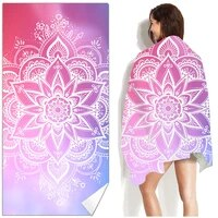 mandala geometry floral beach towel sand free quick dry large beach towels swimming fitness yoga bath towels for woman