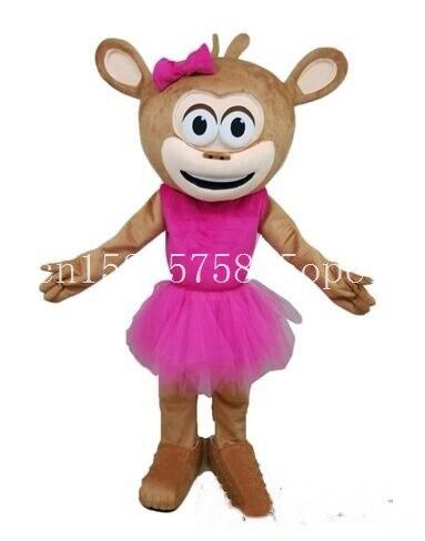 Disfraz de chica mono mascota dibujos animados caminar muñeca Anime cosplay para disfraz de actuación