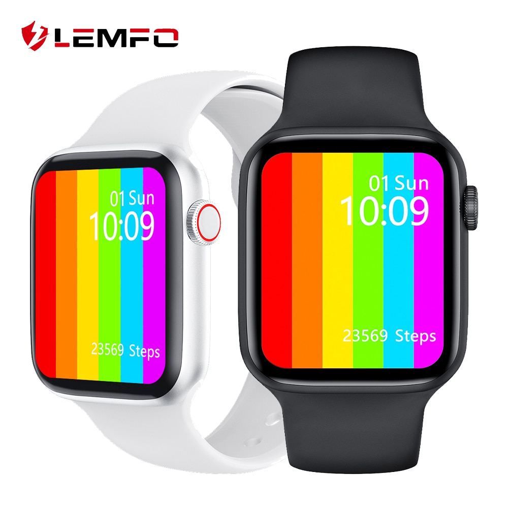 LEMFO IWO W46 Smart Watch Men 2021 Custom Dial 1.75 Inch HD Screen  For Iwo 12 Pro Women Smartwatch Android Ios Pk W26 W56 Hw22