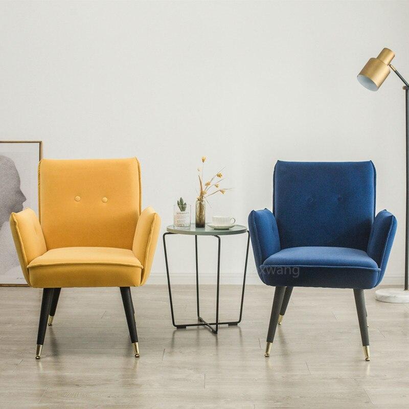 Mediados de siglo de estilo moderno sillón sofá silla patas de madera tapicería de lino Silla de sala de estar muebles de dormitorio Silla de brazo