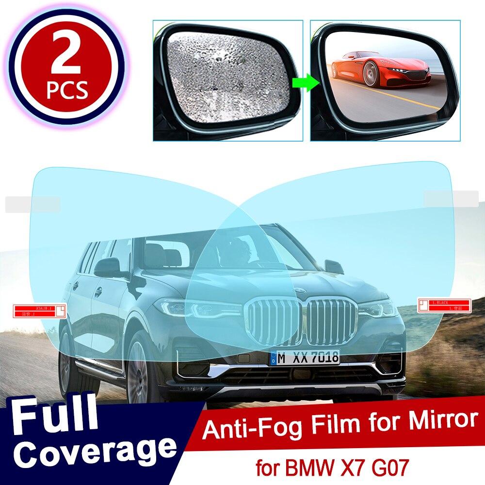2 uds. Para BMW X7 G07 cubierta completa del coche retrovisor película protectora para espejo Anti deslumbrante impermeable Anti niebla coche pegatina