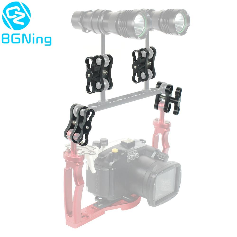 Алюминиевый CNC шаровой головкой с зажимом-бабочкой, светильник для дайвинга, кронштейн для крепления на 360 градусов, держатель для Gopro YI для экшн-камеры OSMO