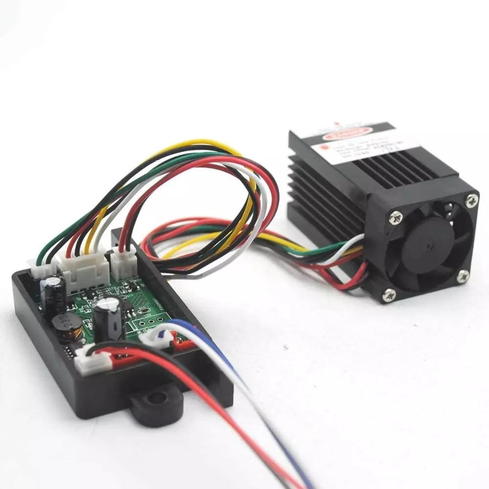80 мВт-100 мВт 532 нм 12 В промышленный зеленый точка луч лазер диод модуль +w TTL 0-20 кГц
