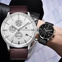 pagani design casual fashion chronograph quartz watch men leather watch 2021 luxury men sapphire glass men watches reloj mujer