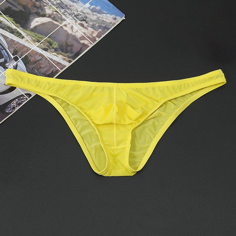 high rise applique mesh briefs in white Men's Seamless Breathable Briefs Ultra-Thin See-Through Low-Rise Underwear High Quality Soft Comfortable Low-rise Underwear