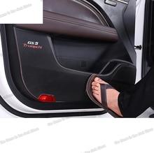 Lsrtw2017 cuero de fibra de carbono de la puerta de coche Anti-kick Mat Co-caja de almacenamiento para piloto para Trumpchi Gs5 2012-2020, 2013, 2014, 2015, 2016 gac