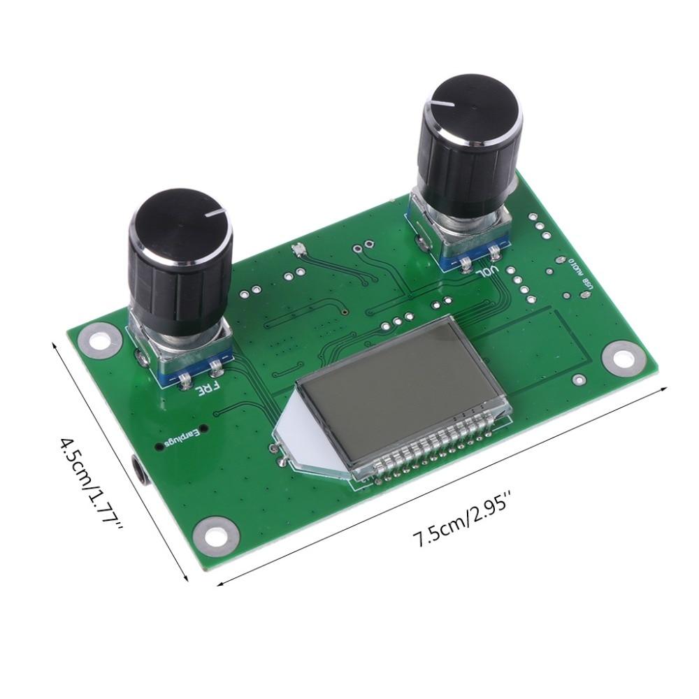 Profissional 87-108mhz dsp & pll lcd estéreo digital fm módulo receptor de rádio + controle serial n06 dropship