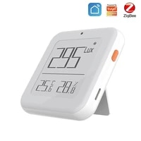 tuya zigbee smart home temperature and humidity sensor with led digital hygrometer thermometer screen works with smart life app