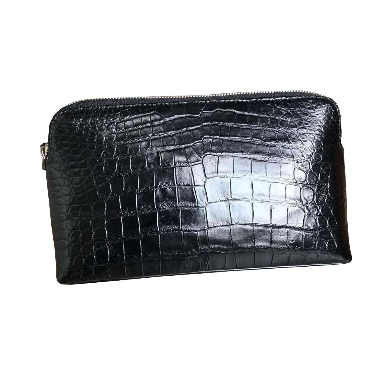 hongsen new  crocodile  Hand bag  belly  male  true  crocodile bag large capacity  Hand caught bag  Men clutch bag