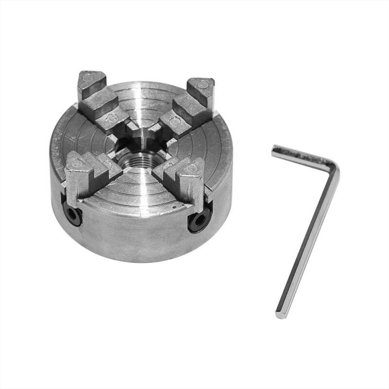 4 portabroca de morzada Z011A para Mini torno de Metal M12x1mm parte posterior roscada 1,8 ~ 56mm/12 ~ 65mm accesorio de torno