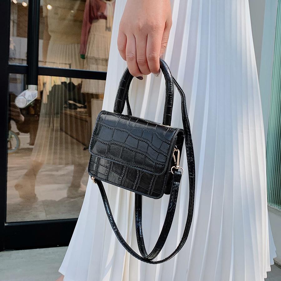 Crocodile Pattern Shoulder Bags for Women 2020 Small Chain Handbag Small Bag PU Leather Hand Bag Ladies Fashion Crossbody Bags