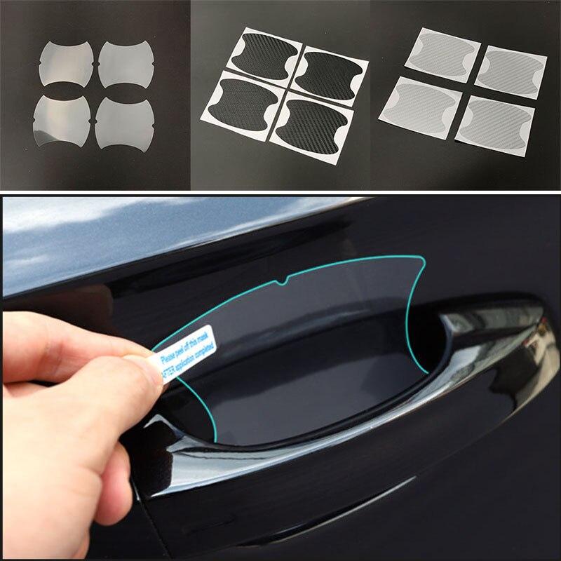 4 Uds mango de la puerta de coche protector de cuencos de La etiqueta engomada para Acura RLX CL EL CSX ILX MDX NSX RDX RL seis TLX TSX Vigor ZDX SUV-X