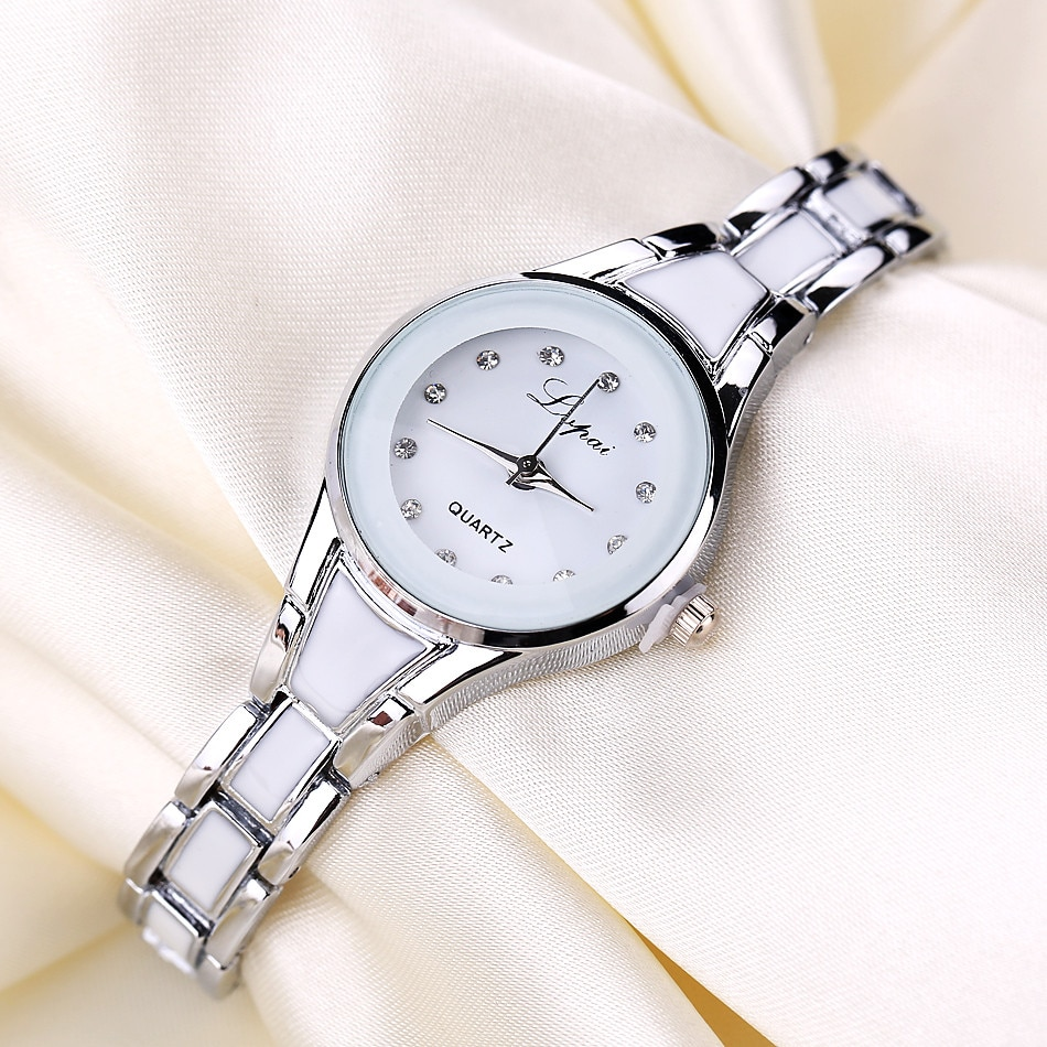 Hot Sale Fashion Luxury Watches For Women Female Rhinestone Dial Ladies Alloy Bracelet часы детские наручные W1