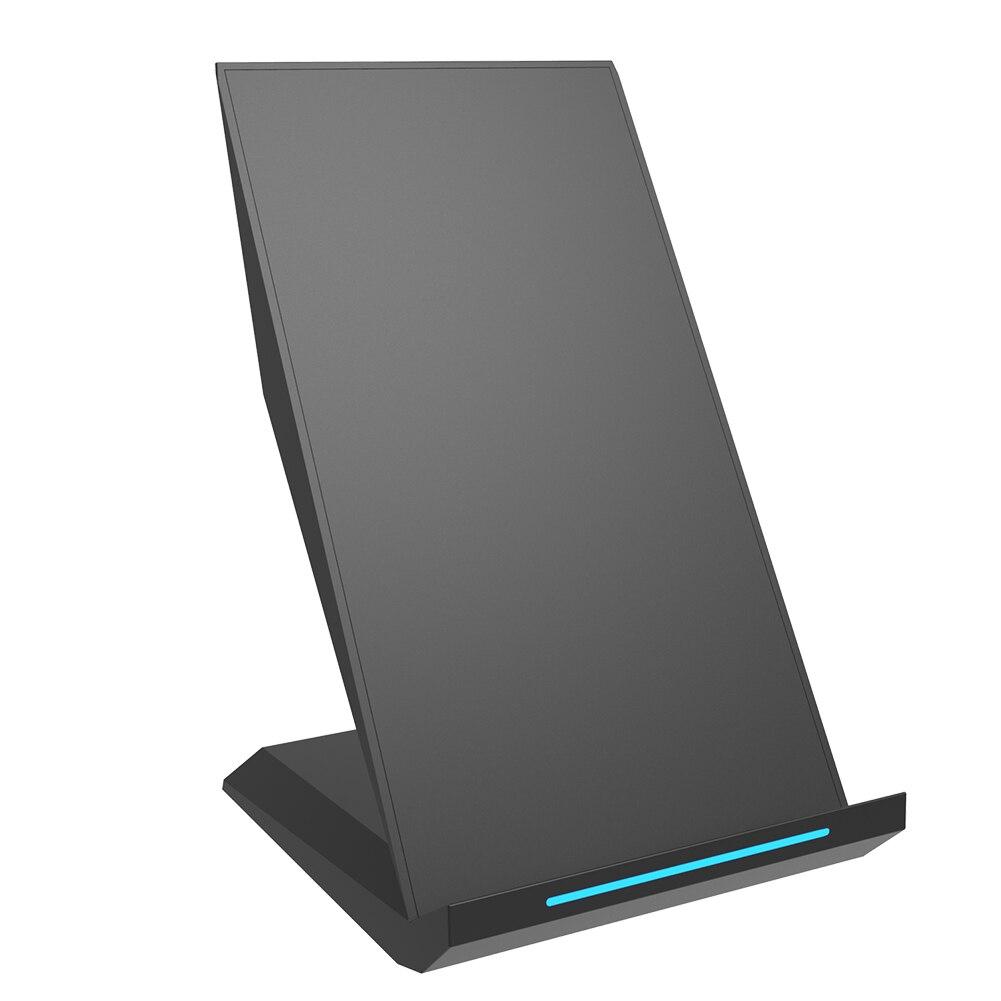 Soporte de teléfono fácil de llevar indicador de luz rápido hogar ligero inalámbrico portátil Vertical soporte de cargador de Oficina de Protección