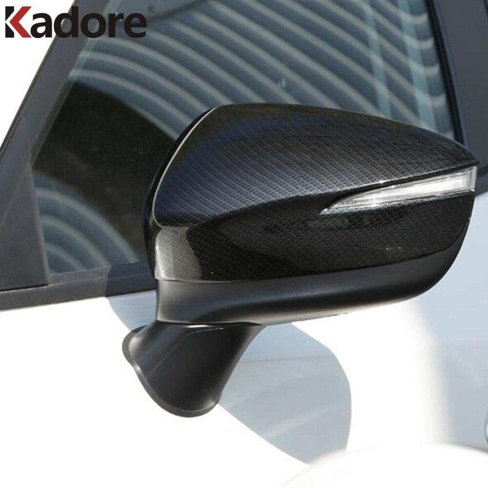 Для Mazda CX-3 CX3 2020 2015 2016 2017 2018 2019 ABS хромированное углеродное волокно Боковая дверь зеркало заднего вида накладка автомобильные аксессуары