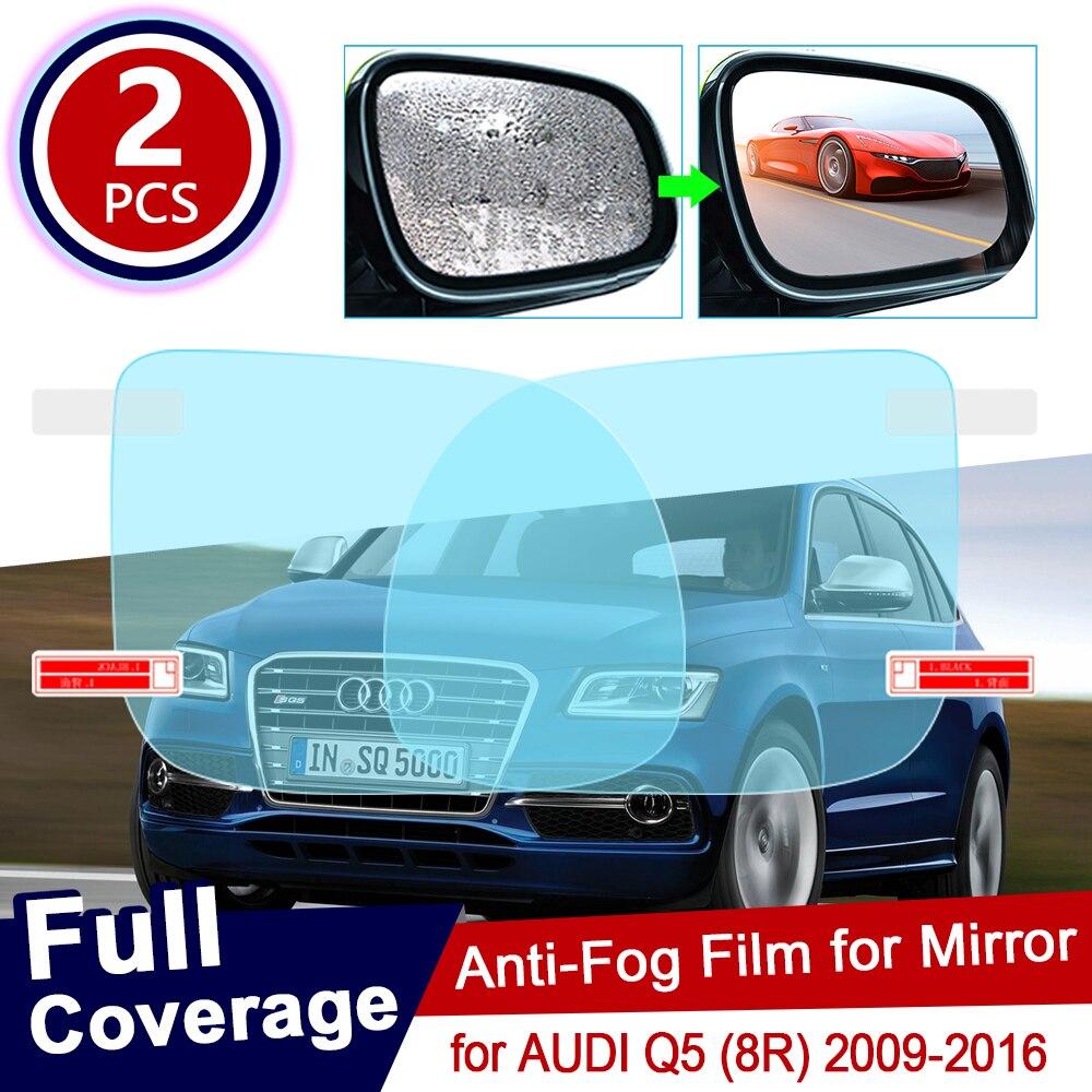 Para AUDI Q5 8R 2009 ~ 2016, cubierta completa, película antiniebla, película de espejo retrovisor, películas antiniebla transparentes a prueba de lluvia, accesorios para coche 2010 2012