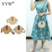 summer bag for beach new handbags handmade messenger crossbody bags for women summer rattan bag weaving ladies straw bag 2021