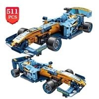 creator 511pcs formula racing car sets bricks city speed pull back racer vehicle building block model children toys kids gifts