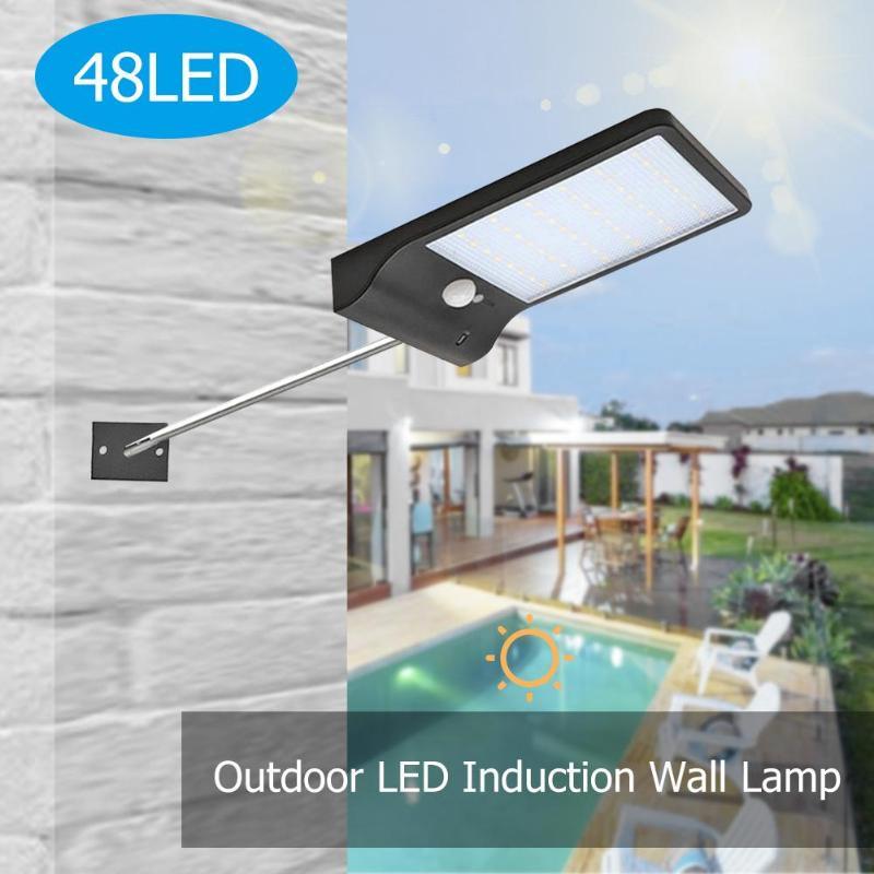 36LED Solar Sensor de movimiento luz de pared de jardín ahorrar dinero protección ambiental impermeable 3 modos de calle de camino al aire libre