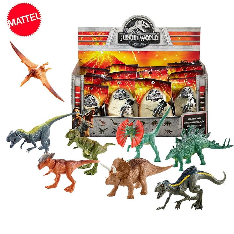 Original Mundo Jurásico dinosaurio modelo ciego paquete juguete de la cápsula juguetes Animal dinosaurio Velociraptor chico Anime regalo de figura