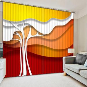 3D Luxury Curtains Blackout brief abstract Curtains For Living Room Bedroom Kitchen Door Window Drapes