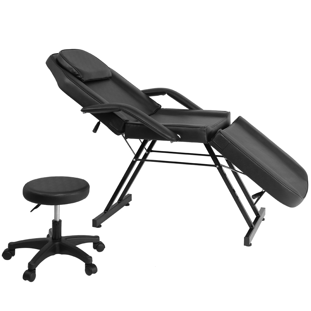 beauty bed body massage wash a physical therapy bed fold the cilia chair tattoo chair nursing care bed HZ016  Beauty Salon Chair Salon Chair Massage Table  Adjustable Beauty Salon SPA Massage Bed Tattoo Chair with Stool Black
