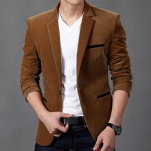 MUXNSARYU Autumn Men's Corduroy Casual Suits Youth Slim Business Fashion Suit Men's Jacket