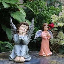Décoration de jardin créative dessin animé Angell Statue décoration de jardin résine figurine à collectionner modèle jouet Q1121