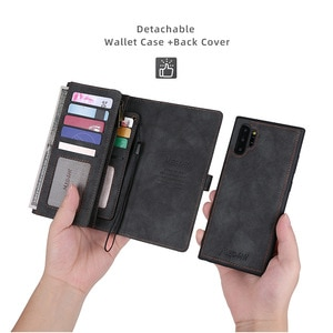 For Samsung Note 10 plus 5G phone case multifunctional wallet business leather case for S9 NOTE 8 9 10 A50 A70